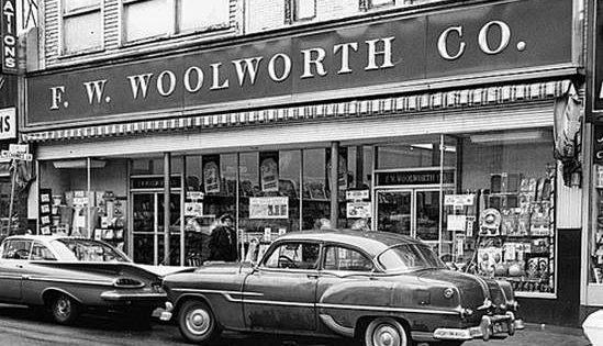 Woolworth s five dime new bedford ma 1964 was here Five and dime stores history