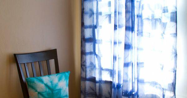 Shibori Curtains Pair Of Sheer Cotton Voile Curtain