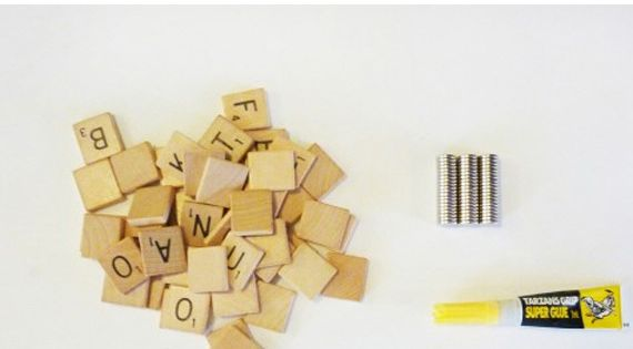 absolutely love this idea! diy scrabble magnets to help you plan dinner
