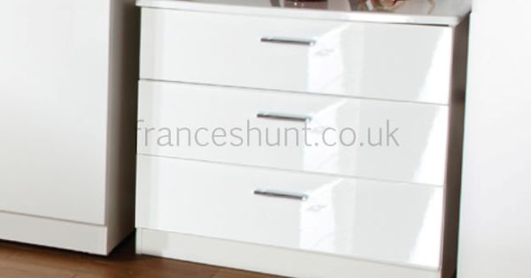 Eaton Mix 39 N 39 Match 3 Drawer Chest White Bedroom Furniture Pinterest Drawers High Gloss