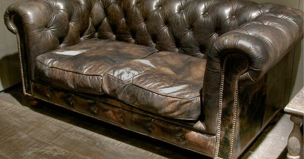 canap 233 chesterfield vintage cuir et chesterfield