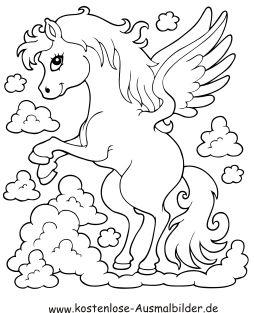 Ausmalbild Pegasus Pferd Ausdrucken Ausmalbilder Pferde Ausmalbilder Wenn Du Mal Buch