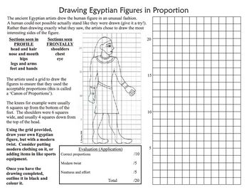 This Worksheet Is Designed As A Short Exercise In Drawing Human Figures In The Style Of The Ancient Egyptians The Egypt Art History Drawings Egyptian Drawings