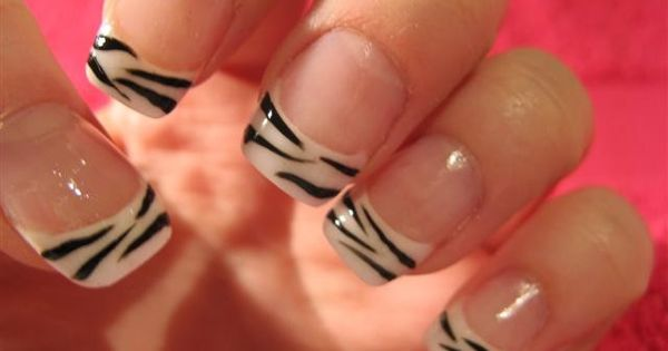 Zebra Nail Designs 15 Nail art designs for short nails step by