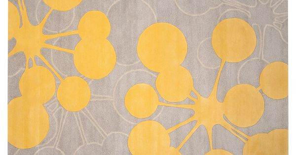 Perfect for my living room! Yellow and grey rug