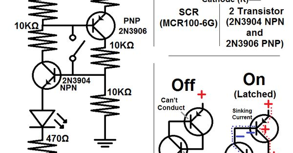 2n3904 npn and 2n3906 pnp circuit schematic  circuit
