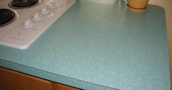 Vintage Aqua Boomerang Formica Counter Tops In This Retro