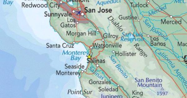 Salinas California Map California Map Salinas California Map