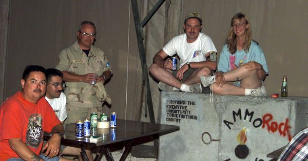 USAF Ammo Troops AMMO Troops Chatting in Bahrain My