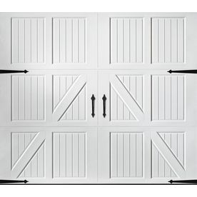 Pella Traditional 108 In X 84 In White Single Garage Door In The Garage Doors Department At Lowes Com