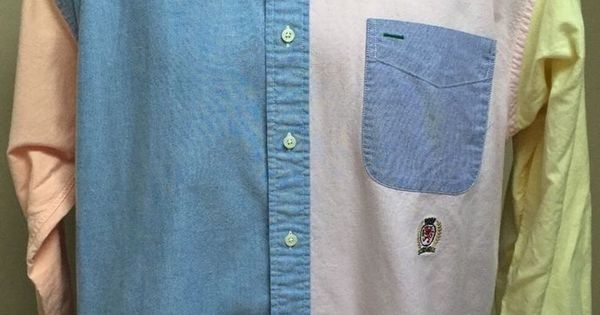 Tommy Hilfiger Men's Vintage 90s Pastel Color Block Lion ...