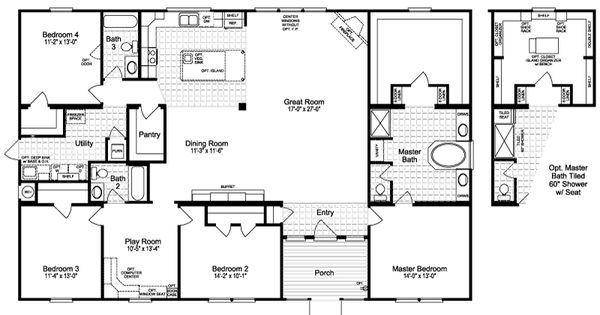 the casa grande 2520 sq ft manufactured home floor plans