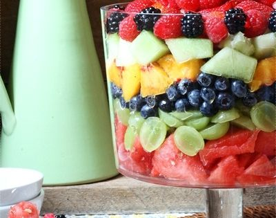 Beautiful Layered Fruit Salad - Ready for fresh fruits!