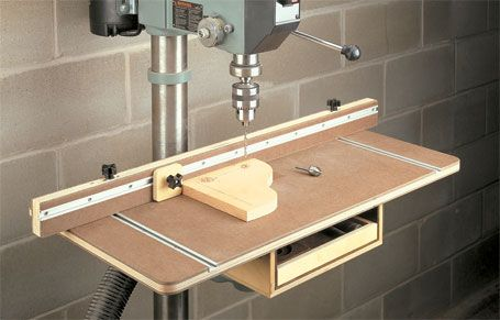 Drill Press Table With Storage Woodsmith Plans A Large
