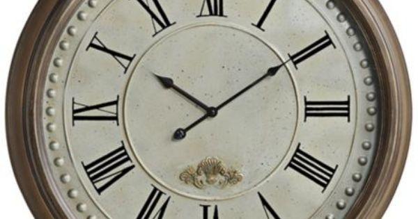 Cooper Classics James 24 Round Wall Clock 3k912
