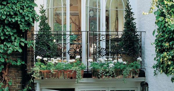 London townhouse - beyond beautiful with those French doors and terrace in