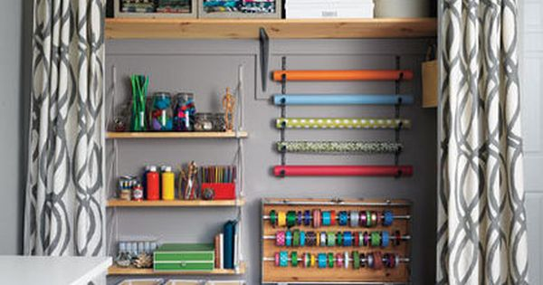 organizing craft supplies in a small space | Organizing Up A Storm