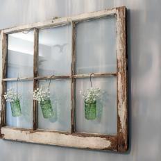 Window Pane Nursery Wall Decoration Old Window Decor Window