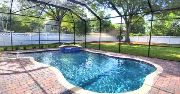 Screened In Pool Pool Houses Pool Patio Backyard Pool