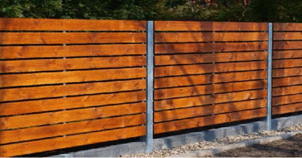 Steel Fence Construction : Horizontal wood fence designs steel construction with