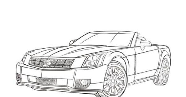 Cadillac Car Coloring Pages : Cadillac xlr cars coloring pages