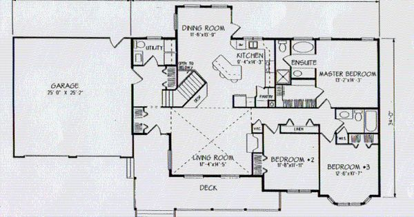 Ranch Style Open Floor Plan The Cheyenne Ranch Style