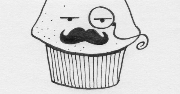 moustache muffin