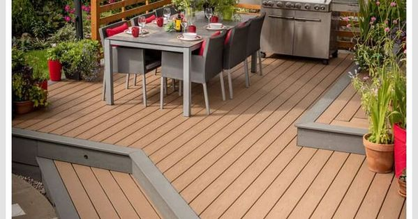60 Reference Of Deck And Patio Combo Beach Dune In 2020 Patio Deck Trex Enhance Decking