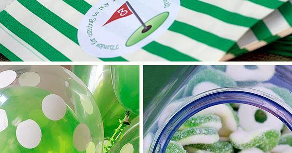golf theme party favor bags