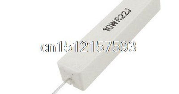 10w Watt 0 22 Ohm 5 Ceramic Cement Power Resistor X10pcs Resistors Ohms Cement