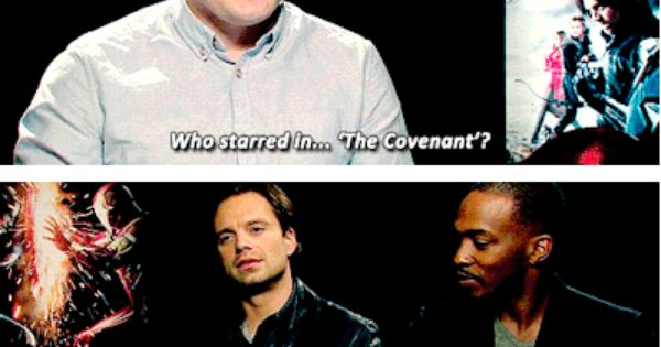 Sebastian stan anthony mackie interview the covenant for A b mackie salon