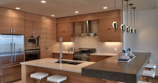 einrichtungsideen k che modern wohnen k cheninsel bartheke home sweet home pinterest. Black Bedroom Furniture Sets. Home Design Ideas