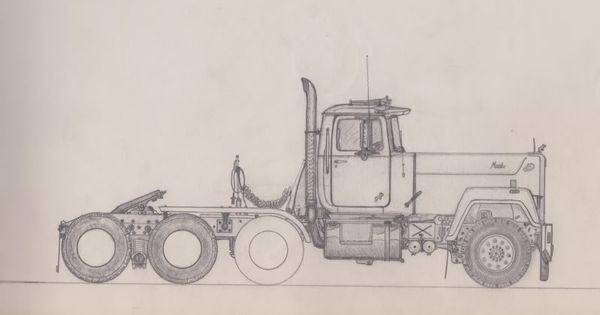 Mack classic truck drawings google search coloring for Mack truck coloring pages