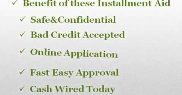 Suitable Help For Your Immediate Needs Installment Loans Bad Credit Months
