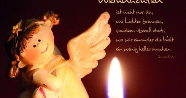 Bild Von Weihnachten Doppelkarte Mit Spruch Von Irmgard Erath Weihnachten Weihnachtsgedichte Weihnachtsideen