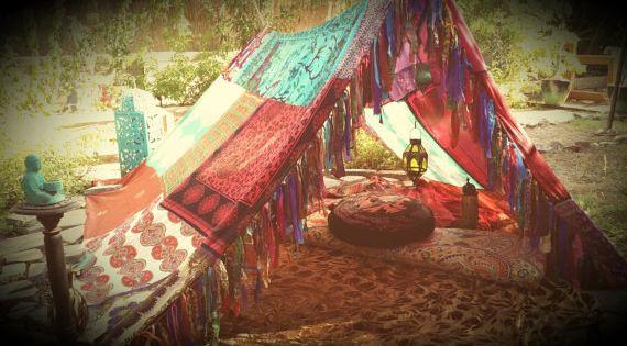 Meditation Tent Teepee Bohemian Boho Canopy Hippy Scarves