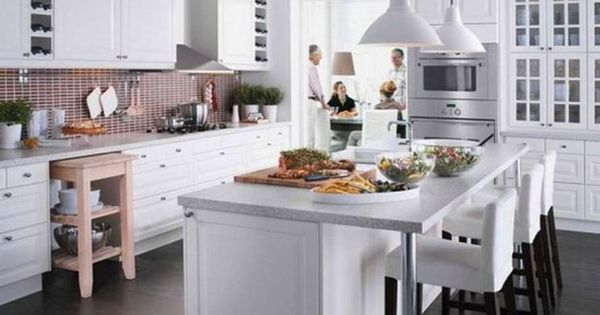 cucina isola ikea bianca   cucine soggiorno moderne   Pinterest ...