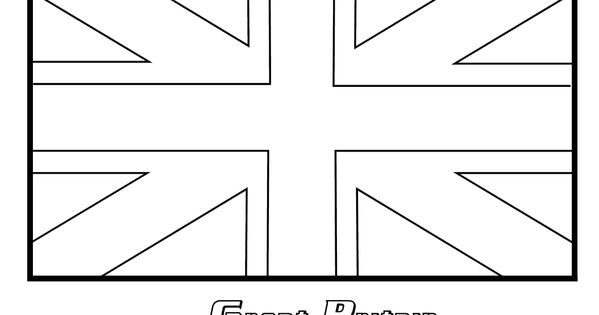 British Flag Coloring Page Union Jack Coloring Page Free