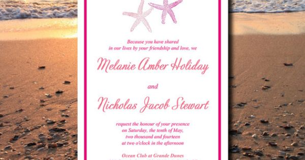 DOWNLOAD Starfish Beach Wedding Invite Microsoft Word ...