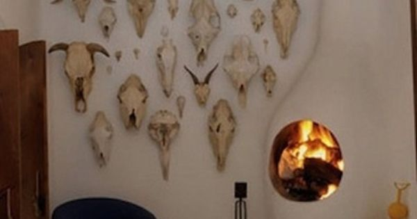 Love The Contrast Of Skulls In This Modern Room