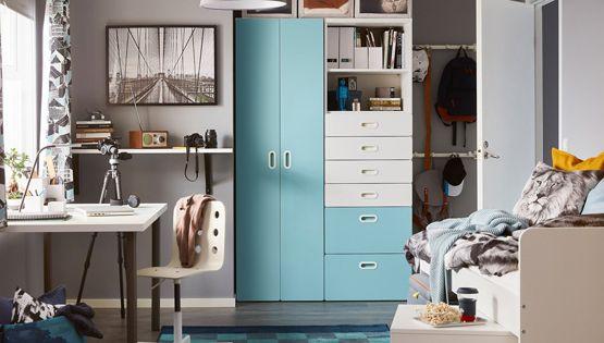 من كتالوج ايكيا أروع تصاميم غرف نوم أطفال ايكيا وغرف أطفال حديثة ديكورات أرابيا Ikea Stuva Bookshelves In Bedroom Kids Room Design
