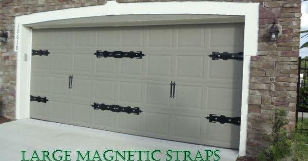 Large Magnetic Garage Door Decorative Strap Hinge Set You