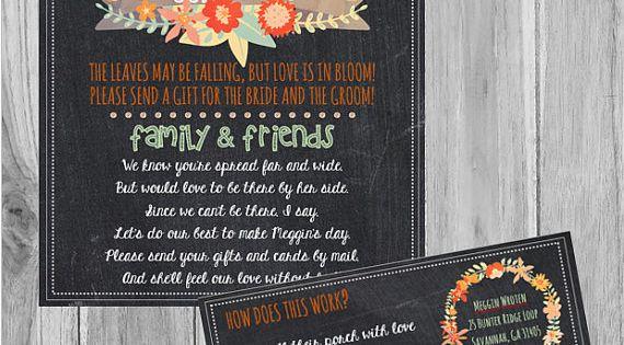 Long Distance Relationship Wedding Invitation: Long Distance Bridal Shower, Fall Bridal Shower From Afar