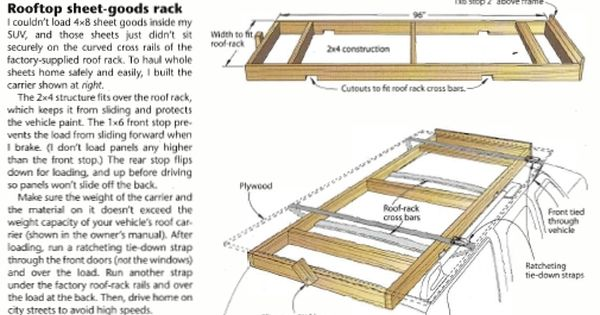 Rooftop Carrier Roof Rack Plywood Storage Car Roof Racks