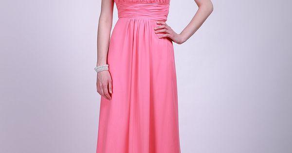 Empire Halter Chiffon Floor-length Hot Pink Hand Made Flower Prom Dress