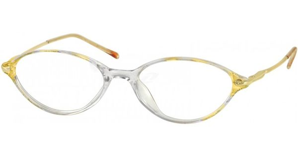 A full-rim acetate frame with bright and satin gold metal ...
