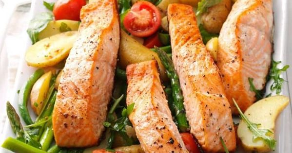 34 Recetas De Ensaladas Verdes Para Adelgazar En 1 Semana Salmon Recipes Seafood Recipes Salad Recipes