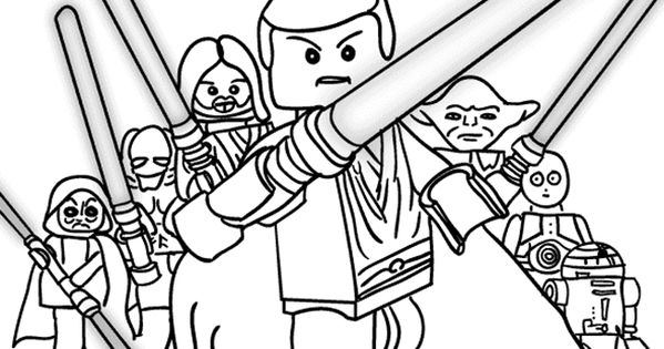 Lego Star Wars Printable Coloring Page - Over 100 designs ...