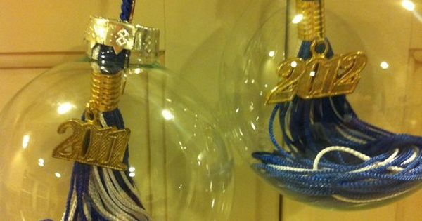 Great idea to reuse your graduation tassels: turn them in to Christmas