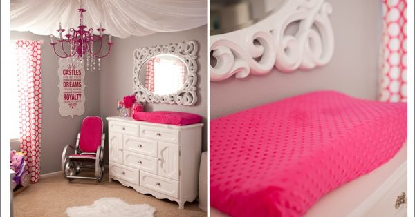 """Girls room colors. """"I love everything about this nursery! the mirror, the"""
